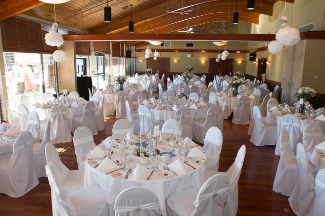 White Themed Wedding Decor by ChairswithFlair.com